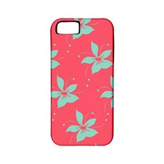 Flower Green Red Apple Iphone 5 Classic Hardshell Case (pc+silicone)