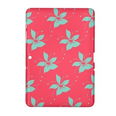 Flower Green Red Samsung Galaxy Tab 2 (10 1 ) P5100 Hardshell Case