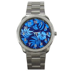 Flower Blue Sport Metal Watch by Jojostore