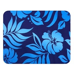 Flower Blue Double Sided Flano Blanket (large)