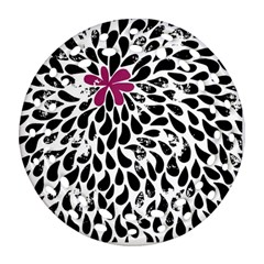 Flower Simple Pink Ornament (round Filigree) by Jojostore