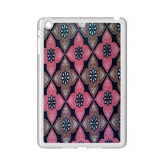 Flower Pink Gray Ipad Mini 2 Enamel Coated Cases by Jojostore