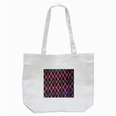 Flower Pink Gray Tote Bag (white) by Jojostore