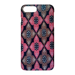 Flower Pink Gray Apple Iphone 7 Plus Hardshell Case by Jojostore