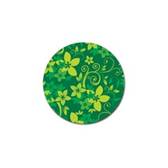 Flower Yellow Green Golf Ball Marker (10 Pack)