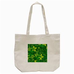 Flower Yellow Green Tote Bag (cream) by Jojostore
