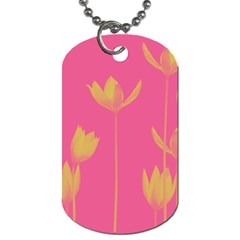 Flower Yellow Pink Dog Tag (one Side)