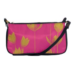 Flower Yellow Pink Shoulder Clutch Bags by Jojostore
