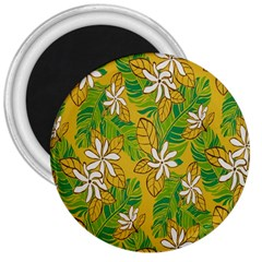 Flower Yellow 3  Magnets
