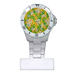 Flower Yellow Plastic Nurses Watch by Jojostore