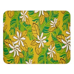 Flower Yellow Double Sided Flano Blanket (large)