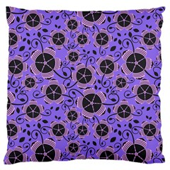 Flower Floral Purple Large Cushion Case (two Sides)