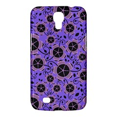 Flower Floral Purple Samsung Galaxy Mega 6 3  I9200 Hardshell Case