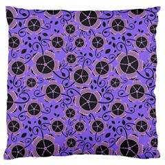Flower Floral Purple Standard Flano Cushion Case (two Sides) by Jojostore