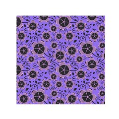 Flower Floral Purple Small Satin Scarf (square) by Jojostore
