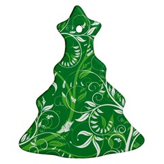 Leaf Flower Butterfly Green Ornament (christmas Tree)