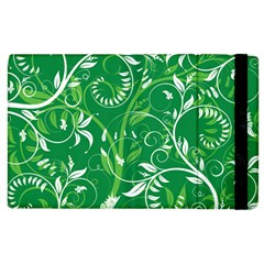 Leaf Flower Butterfly Green Apple Ipad 2 Flip Case by Jojostore