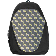Hearts And Yellow Crossed Washi Tileable Gray Backpack Bag