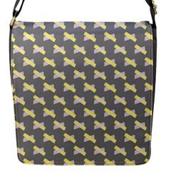 Hearts And Yellow Crossed Washi Tileable Gray Flap Messenger Bag (s) by Jojostore