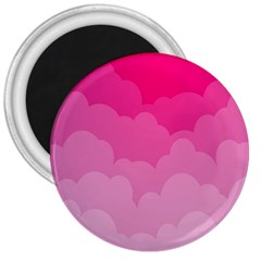 Lines Pink Cloud 3  Magnets by Jojostore
