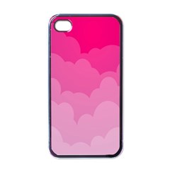 Lines Pink Cloud Apple Iphone 4 Case (black)