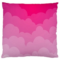 Lines Pink Cloud Large Cushion Case (two Sides)