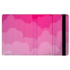 Lines Pink Cloud Apple Ipad 3/4 Flip Case by Jojostore