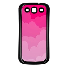Lines Pink Cloud Samsung Galaxy S3 Back Case (black)