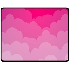 Lines Pink Cloud Double Sided Fleece Blanket (medium)