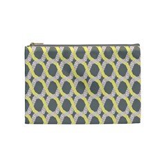 Hearts And Yellow Washi Zigzags Tileable Cosmetic Bag (medium)