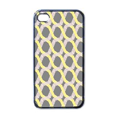 Hearts And Yellow Washi Zigzags Tileable Apple Iphone 4 Case (black)