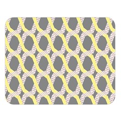 Hearts And Yellow Washi Zigzags Tileable Double Sided Flano Blanket (large)