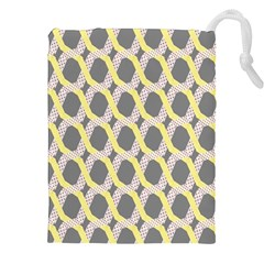 Hearts And Yellow Washi Zigzags Tileable Drawstring Pouches (xxl)