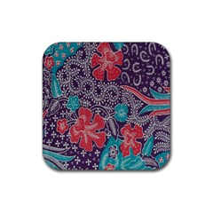 Madura Batik Rubber Square Coaster (4 Pack)  by Jojostore
