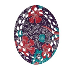 Madura Batik Oval Filigree Ornament (two Sides) by Jojostore