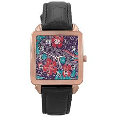 Madura Batik Rose Gold Leather Watch  by Jojostore