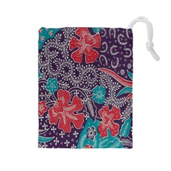 Madura Batik Drawstring Pouches (large)  by Jojostore