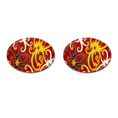 Batik Jogja Java Cufflinks (oval) by Jojostore