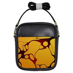Black Yellow Orange Girls Sling Bags
