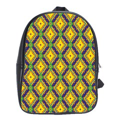 Morocco Flower Yellow School Bags(large)  by Jojostore