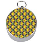 Morocco Flower Yellow Silver Compasses Front