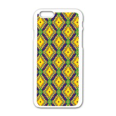 Morocco Flower Yellow Apple Iphone 6/6s White Enamel Case by Jojostore