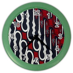 Batik Jogja Red Black Color Wall Clocks by Jojostore