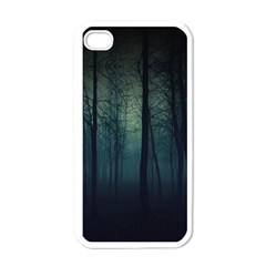 Dark Forest Apple Iphone 4 Case (white) by Brittlevirginclothing