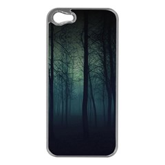 Dark Forest Apple Iphone 5 Case (silver) by Brittlevirginclothing