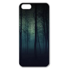 Dark Forest Apple Seamless Iphone 5 Case (clear) by Brittlevirginclothing