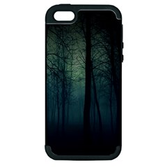 Dark Forest Apple Iphone 5 Hardshell Case (pc+silicone) by Brittlevirginclothing