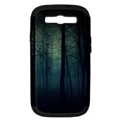 Dark Forest Samsung Galaxy S Iii Hardshell Case (pc+silicone) by Brittlevirginclothing