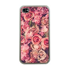 Gorgeous Pink Roses Apple Iphone 4 Case (clear) by Brittlevirginclothing