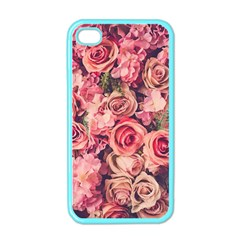 Gorgeous Pink Roses Apple Iphone 4 Case (color) by Brittlevirginclothing